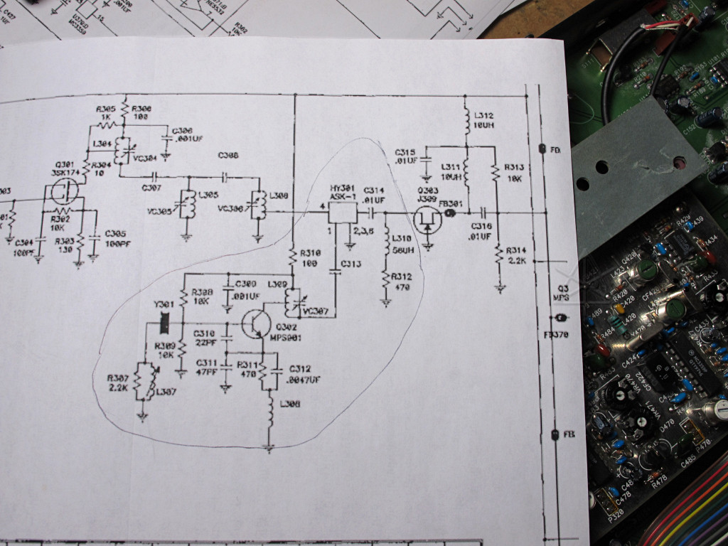 Telex Intercom Wiring Diagram Schematics Schematic Plug Btr 200 Xlr Front End And Local Oscillator Circuit